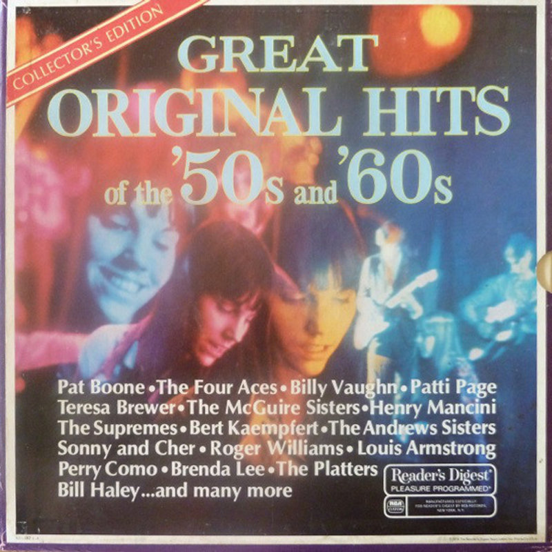 Reader S Digest Great Original Hits Of The 50 S And 60 S